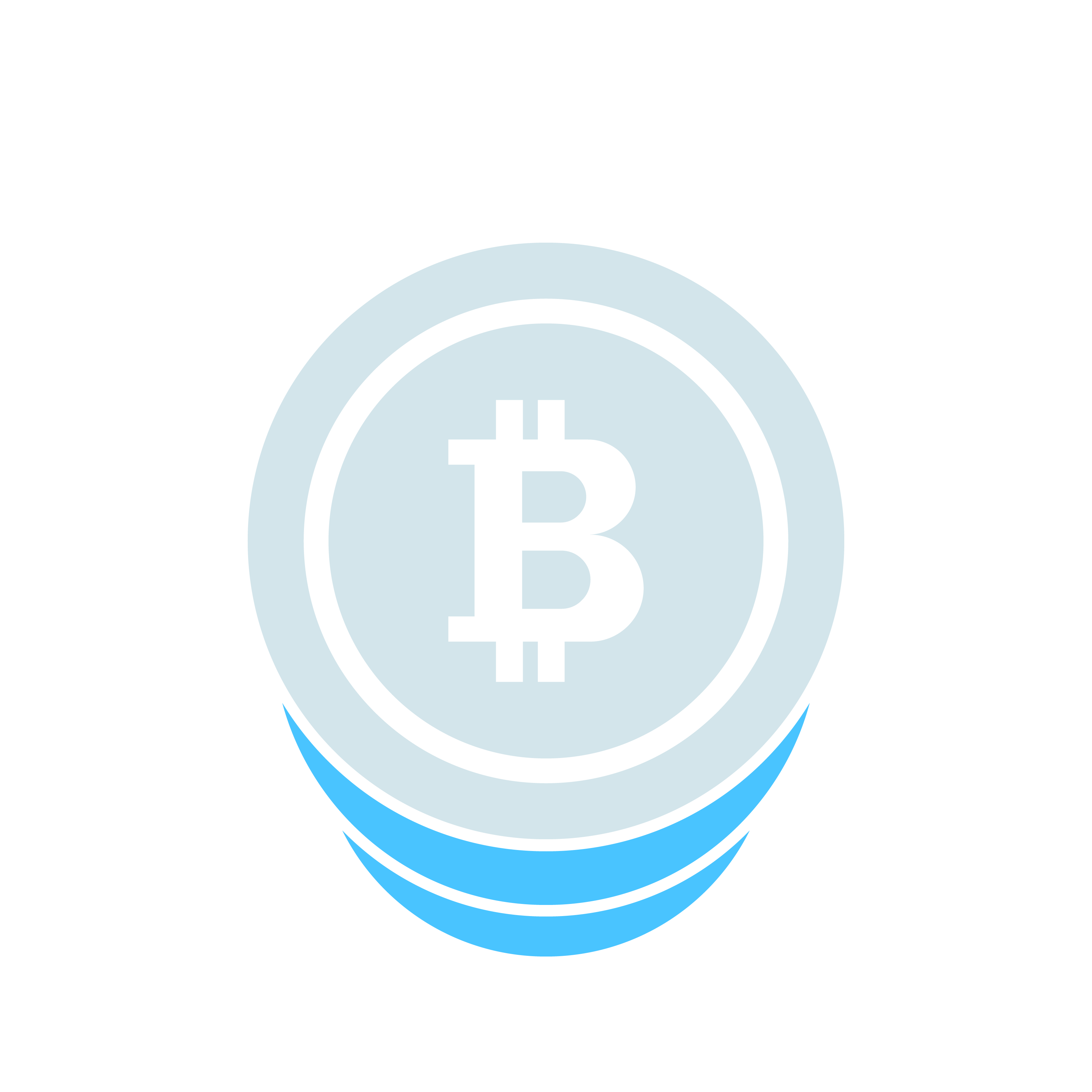 Graphical representation of a stack of bitcoins