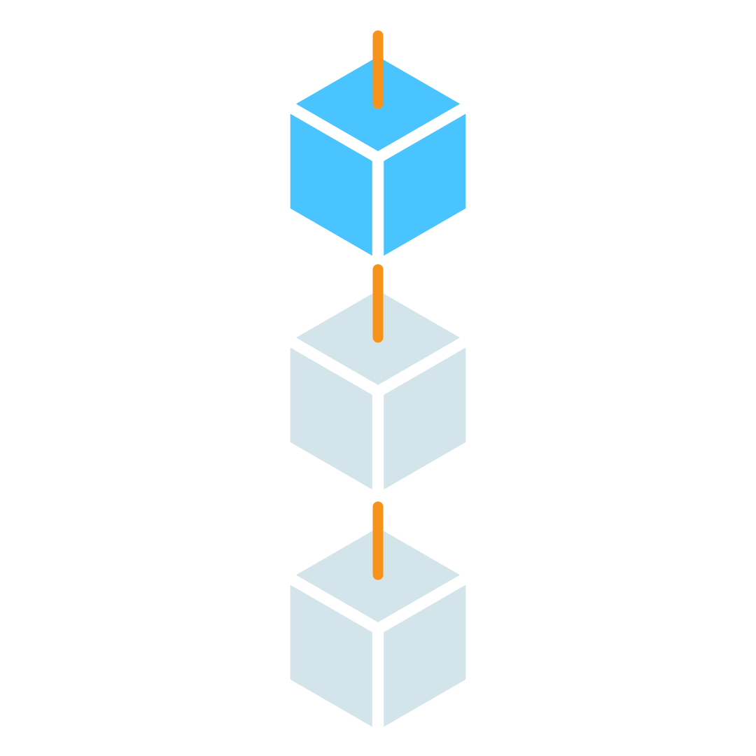 Graphical representation of a solved block being added to a blockchain.