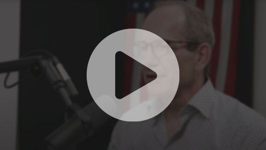 A screenshot of CEO Fred Thiel on the Pomp Podcast